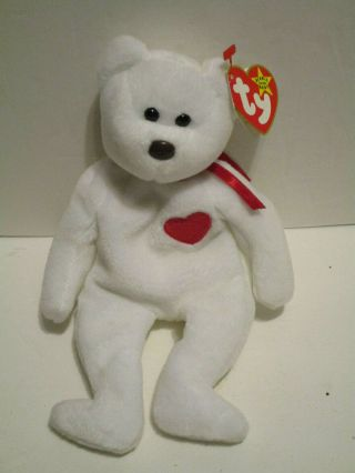 Valentino Ty Beanie Baby Brown Nose Mismatched Tags.  Ty Tag 1994,  Tush Tag 1993.