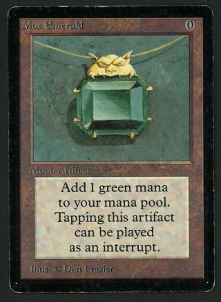 1x Beta Mox Emerald (indentation) Mtg Beta Power 9 - Kid Icarus -