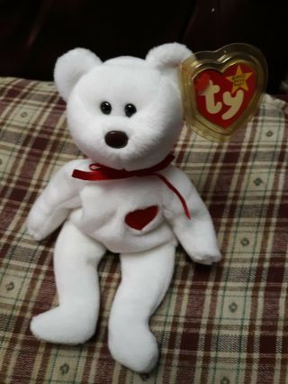 Rare Valentino Ty Beanie Baby With Swing Tag Error And P.  V.  C Error Brown Nose
