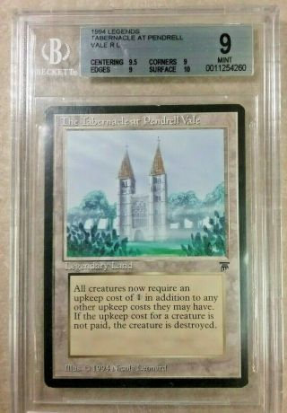 Mtg Magic - The Tabernacle At Pendrell Vale - Legends - Bgs 9 - Surface 10