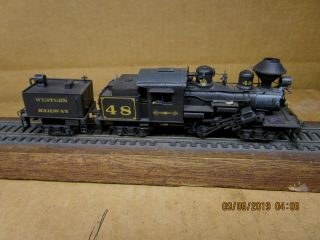 Northwest Short Line Ho Brass Custom Painted Western Railway 3 - Truck Climax 48