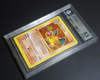 Charizard 1st Edition Shadowless (base Set) Bgs 8.  5 With Very Strong Subgrades