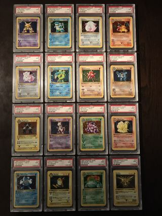 Pokemon Cards - Complete Psa 9 1st Edition Base Holo Set 1 - 16 Includes Charizard