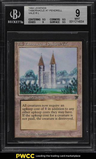 1994 Magic The Gathering Mtg Legends Tabernacle At Pendrell Vale R Bgs 9 (pwcc)