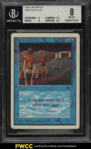 1993 Magic The Gathering Mtg Unlimited Time Walk R B Bgs 8 Nm - Mt (pwcc)