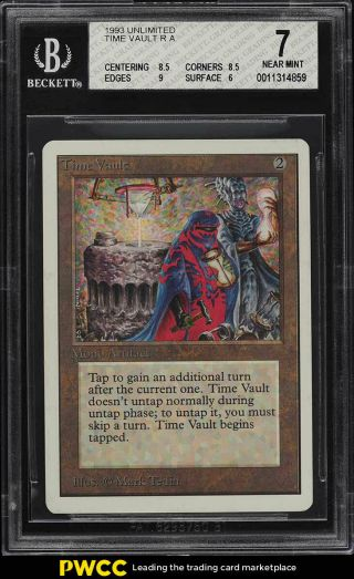 1993 Magic The Gathering Mtg Unlimited Time Vault R A Bgs 7 Nrmt (pwcc)