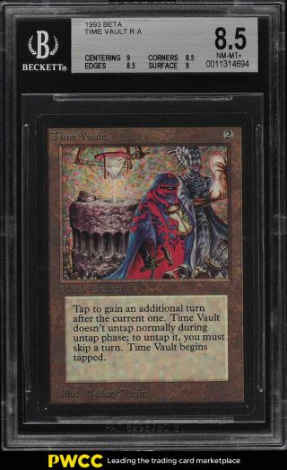 1993 Magic The Gathering Mtg Beta Time Vault R A Bgs 8.  5 Nm - Mt,  (pwcc)