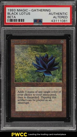 1993 Magic The Gathering Mtg Beta Black Lotus R A Psa Altered (pwcc)