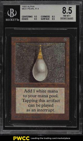 1993 Magic The Gathering Mtg Alpha Mox Pearl R A Bgs 8.  5 Nm - Mt,  (pwcc)