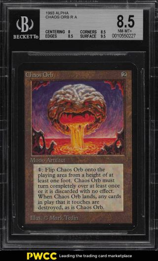 1993 Magic The Gathering Mtg Alpha Chaos Orb R A Bgs 8.  5 Nm - Mt,  (pwcc)