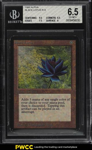 1993 Magic The Gathering Mtg Alpha Black Lotus R A Bgs 6.  5 Exmt,  (pwcc)