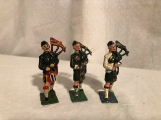Britains Scotts Scotish Bagpipers Soldiers