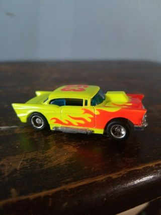 Vintage Tyco Slot Car 53 Yellow Red Flames