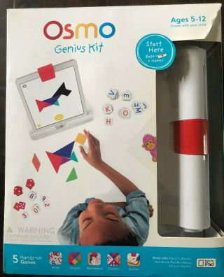 Osmo Genius Kit Learning Games For Ipad Numbers Words,  Coding Awbie Complete