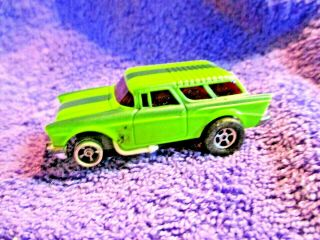 Aurora Afx Lime Green With Green Stripes 57 Chevy Nomad Wagon Slot Car Ho Scale