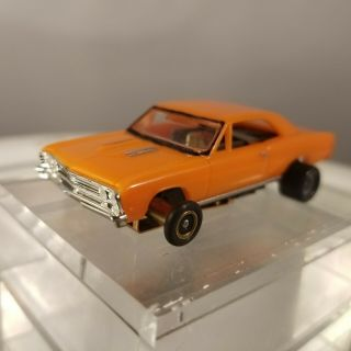 1967 Chevelle Fray Style Practice Jl Chassis Car Ho Scale Slot Car T - Jet