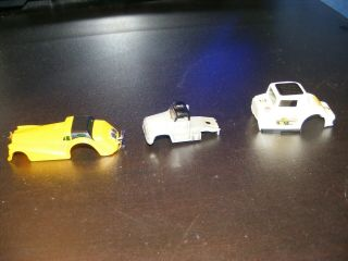 3 Unknown Slot Car Body Only Semi Truck Coupe Deville & Hot Rod Types