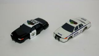 Afx Ho Scale Police Slot Car Bodies - Set Of 2 For One Great Price