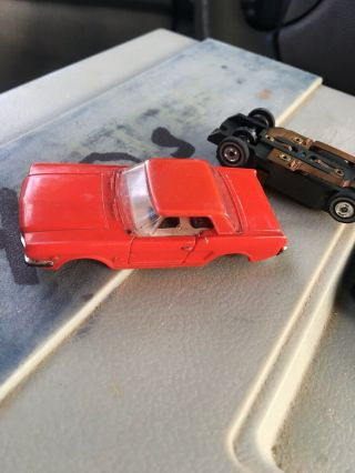 Aurora Slot Cars T - Jet Mustang Red/red Hardtop