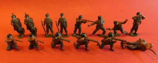 Ls6 14x Asst Antique Lead Soldiers American Army Ww2
