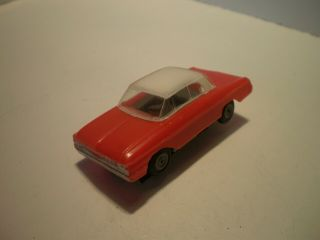 Ho Slot Car Atlas Red Ford Galaxy White Top All Complete