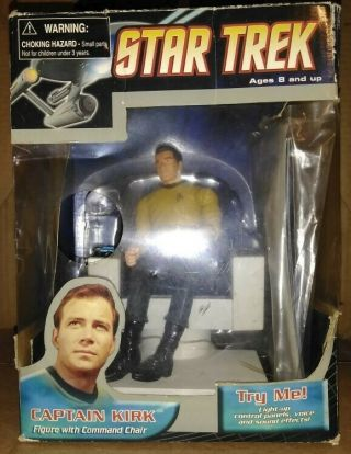 Deluxe Edition Star Trek Captain Kirk & Electronic Command Chair Action Figure