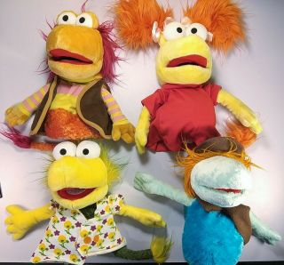 Fraggle Rock Hand Puppet Manhattan Toy Gobo Red Wembly Goober