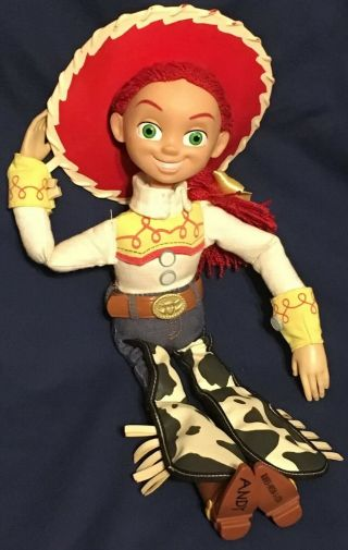 Disney Store Toy Story Pull String Talking Jessie Doll With Hat -