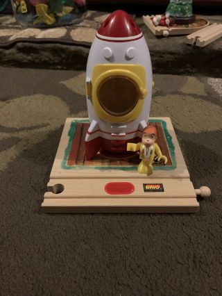 Brio Curious George Rocket Ship Space 32911 Lights And Sounds Thomas Wooden