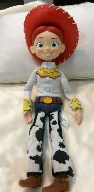 """Toy Story Pull String Talking Jessie Doll 15 """" Thinkway With Hat"""