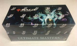 Magic The Gathering Ultimate Masters Booster Box Mtg Factory With Topper