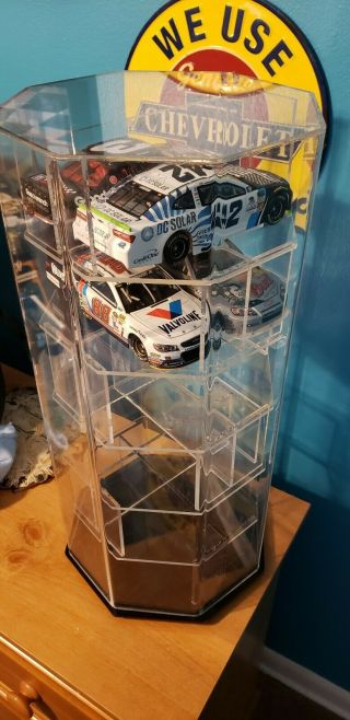 12 Car 1:24 Scale Rotating Display Case Acrylic Ncaseit