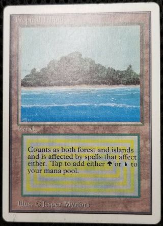 Tropical Island - Unlimited Magic The Gathering Mtg Card