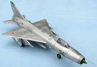 Sukhoi Su - 9b (t - 43) Fishpot,  Soviet Air Force,  Scale 1/72,  Hand - Made Plastic Model