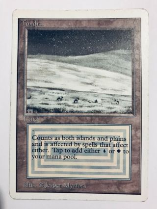 Tundra - Unlimited Magic The Gathering Mtg Card