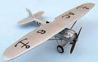 Dewoitine D.  21,  Argentine Naval Air Force,  193,  Scale 1/72,  Hand - Made Plastic Model