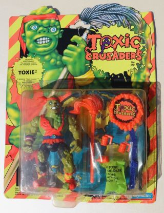 Toxic Crusaders Toxie Playmates Action Figure 1990 5 Inch