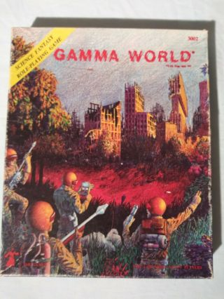 Tsr Gamma World 2nd Printing 1st Edition 3002 Box And Book Only.  No Map Or Dice