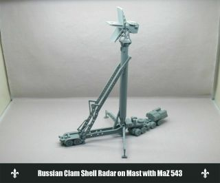 """1:144 Russia """" Clam Shell """" Low Altitude Acquisition Radar & Maz - 543 Tractor Kit"""