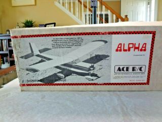 Vintage Ace Rc Airplane Alpha Kit 50l212 Designed By Runge // Complete // Nm/mt
