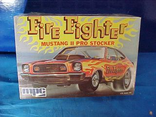 Mib Orig 1970s Mpc 1/25 Scale Model Car Kit Mustang Ii Fire Fighter