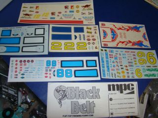 Vintage Amt And Mpc Decal Sheets For Pontiacs Gto Trans Am Firebird Etc.