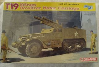 Dragon T19 105mm Howitzer Motor Carriage - Model 6496 1:35 Scale Copyright 2009