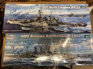 Two 1:700 Military Ship Models