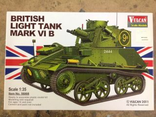 Khs - 1/35 Vulcan Model Kit 56008 British Light Tank Mark Vi B
