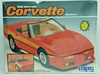 Mpc Large 1/16 1988 Chevrolet Corvette Roadster 2 In 1 Kit No 6480