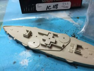 Old Glory 1/600 Uss Texas 1892; Resin And Metal Complete And Unstarted