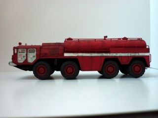 1/72 A&a Models 7201 Russian Firefighting Truck Aa - 60 Maz - 7310,  Build & Painted