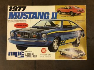 1/25 Mpc 1977 Ford Mustang Ii Unsealed Model Kit