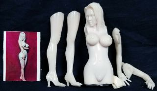 "Garage Resin 12 "" Tall Nude Woman Standing Posing Resin Model Kit"